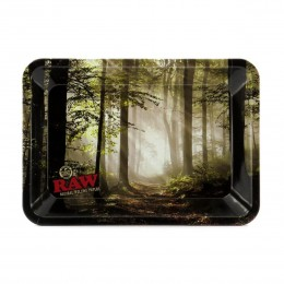 Raw metal rolling tray forest mini
