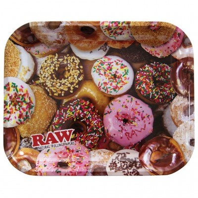 Raw metal rolling tray donut