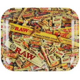 Raw metal rolling tray mix