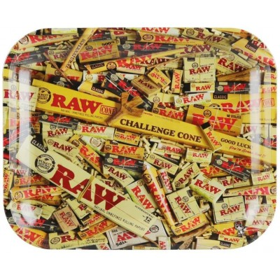 Raw metal rolling tray mix