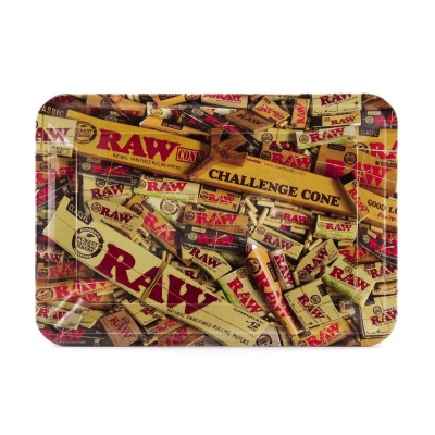 Raw metal rolling tray mix mini