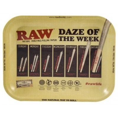 Raw metal rolling tray daze