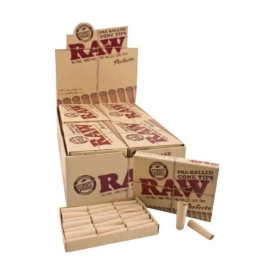 Raw prerolled cone tips perfecto