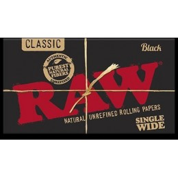 Raw black poster black sw