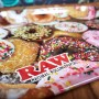 Raw metal rolling tray donut 2