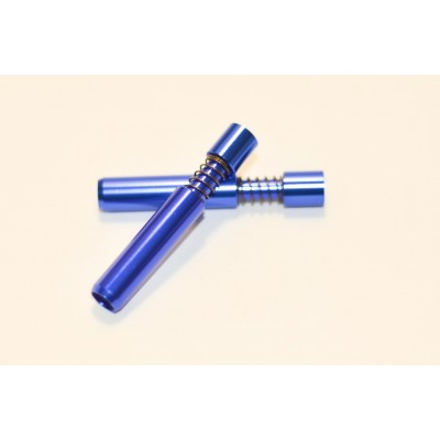 Metal pipe one hitter mouthpiece