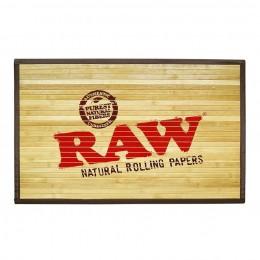 Raw bamboo door mat