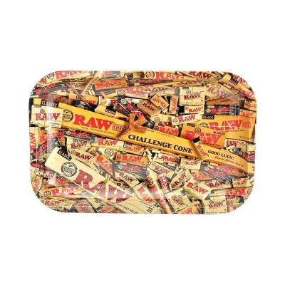 Raw metal rolling tray mix small