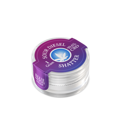 CBD Wax Shatter 1000mg (Sour Diesel)