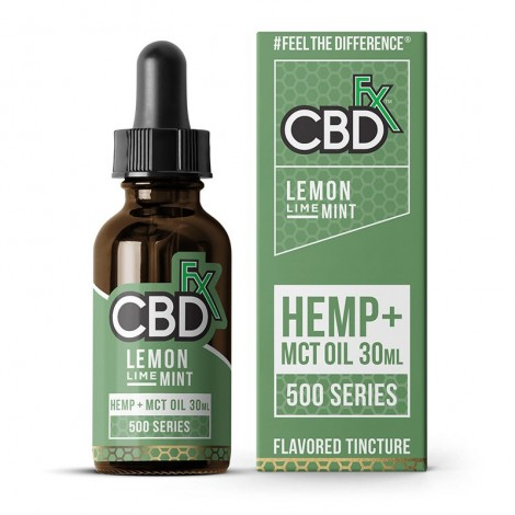Lemon Lime Mint CBD Tincture Oil 500mg (30ml)