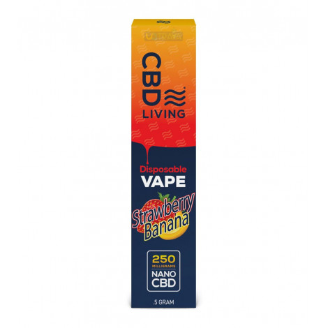 CBD Living Vape Pen Strawberry Banana – 250mg
